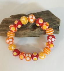 Armband Rot/Gelb/Orange