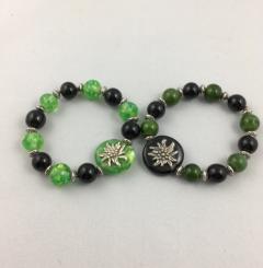 Trachtenarmband Grün